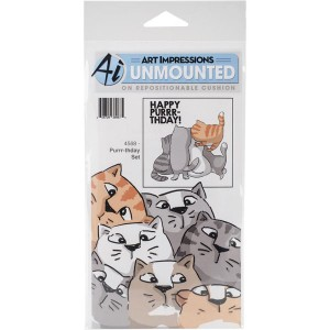 Art Impression Purr-thday Stamp Set class=