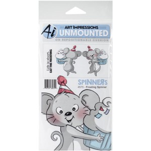 Art Impressions Frosting Spinner Stamp Set class=