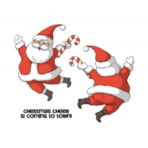 Art Impressions Santa Spinner Cling Stamp