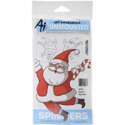 Art Impressions Santa Spinner Cling Stamp
