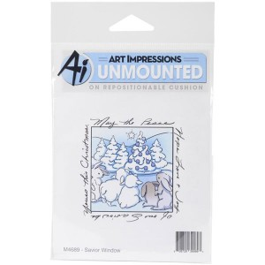 Art Impressions Savior Window Cling Stamp class=
