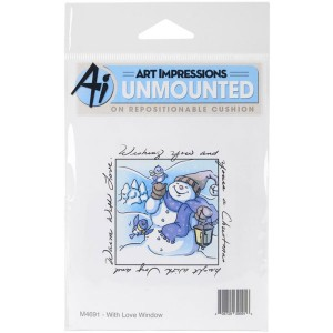 Art Impressions With Love Window Cling Stamp class=