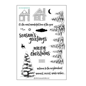 Concord & 9th Christmas Cottage Stamp Set