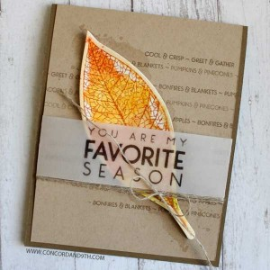 Concord & 9th Lace Leaf Stamp Set class=