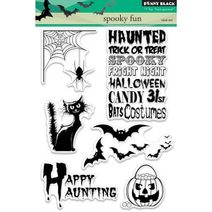 Penny Black Spooky Fun stamp set class=
