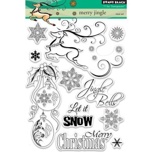 Penny Black Merry Jingle Stamp Set