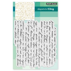 Penny Black Script Background Cling Stamp class=