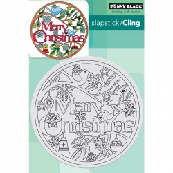 Penny Black Christmas In The Round Cling Stamp