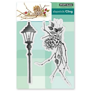 Penny Black Cones & Berries Cling Stamp Set class=