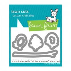 Lawn Fawn Winter Sparrows Lawn Cuts (dies)
