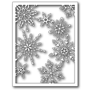 Memory Box Scattered Snowflake Frame Craft Die
