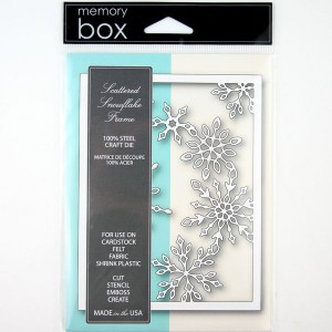 Memory Box Scattered Snowflake Frame Craft Die class=