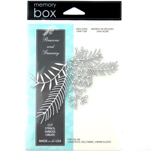 Memory Box Pinecone and Greenery Craft Die class=