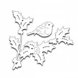 Penny Black Bird Amidst Holly Creative Die