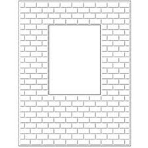 Poppystamps Brick Window Wall Craft Die