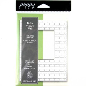 Poppystamps Brick Window Wall Craft Die class=