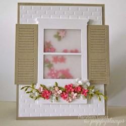 Poppystamps Brick Window Wall Craft Die