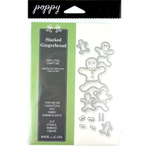 Poppystamps Stacked Gingerbread Die Set class=