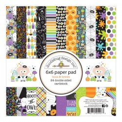 "Doodlebug Boos & Brews Double-Sided Paper Pad - 6""X 6"""