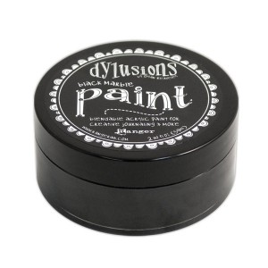 Dylusions Blendable Acrylic Paint - Black Marble