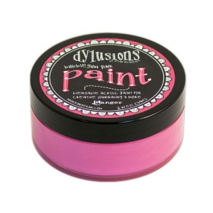Dylusions Blendable Acrylic Paint - Bubblegum Pink class=