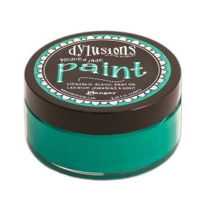 Dylusions Blendable Acrylic Paint - Polished Jade class=