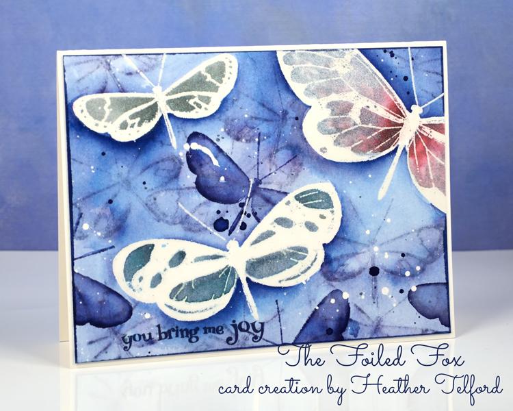 Butterfly Joy card by Heather Telford