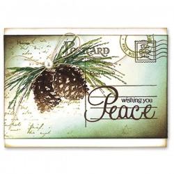 Penny Black Letter Background Rubber Stamp