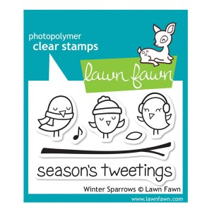 Lawn Fawn Winter Sparrows Stamp Set
