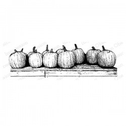 Impression Obsession Pumpkin Row Stamp