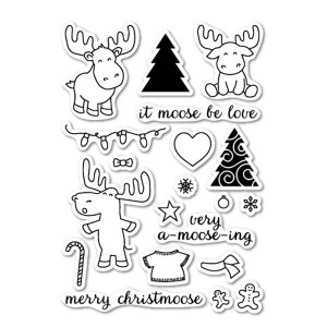 Memory Box Moose Crossing Stamp Set