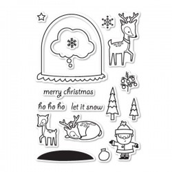 Memory Box Snowglobe Wishes Stamp Set