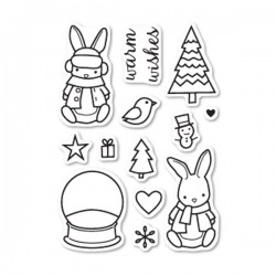 Memory Box Bunny Wishes Stamp Set