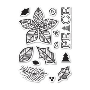 Poppystamps Poinsettia Peace Stamp Set