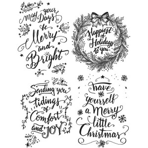 Stampers Anonymous Tim Holtz Doodle Greetings 1 Stamp Set