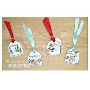Memory Box Snowglobe Wishes Stamp Set class=