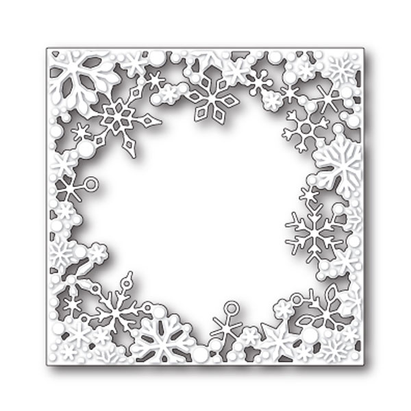 Memory Box Dancing Snowflake Square Craft Die The Foiled Fox