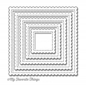 My Favorite Things Die-namics Stitched Mini Scallop Square STAX