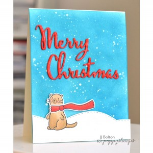 PoppyStamps Merry Christmas Script Craft Die class=