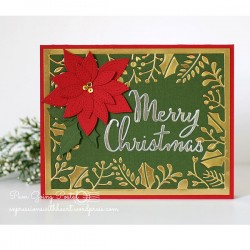 PoppyStamps Merry Christmas Script Craft Die