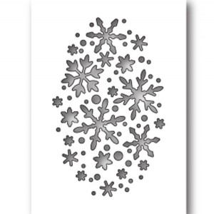Poppystamps Snowflake Oval Collage Craft Die