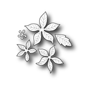 Poppystamps Small Blooming Poinsettia Die Set