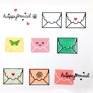 Waffle Flower Happy Mail Stamp Set class=