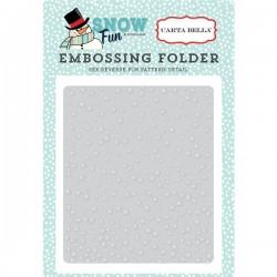 Carta Bella Falling Snow Embossing Folder