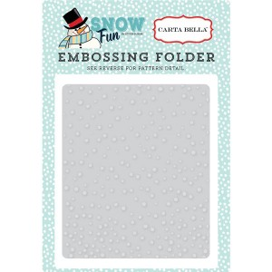 Carta Bella Falling Snow Embossing Folder class=