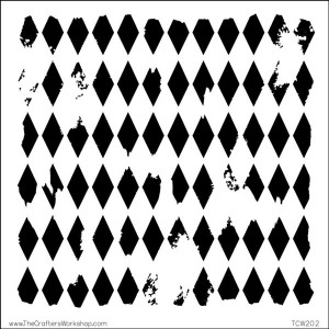 "Crafters Workshop Harlequin Stencil - 6"" x 6"" class="