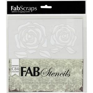 FabScraps Vintage Elegance Roses Stencil class=