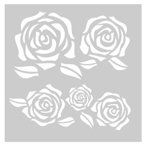 FabScraps Vintage Elegance Roses Stencil