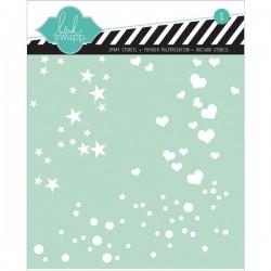 """Heidi Swapp Confetti Stencil - 6"""" x 6"""""""