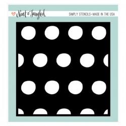 Neat & Tangled Polka Simply Stencil